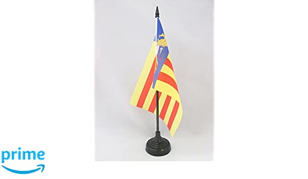 AZ FLAG Bandera de Mesa de Valencia ESTATUT DE BENICÀSSIM 21x14cm ...