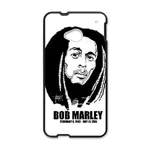 HTC One M7 Cell Phone Case Black Bob Marley eoug