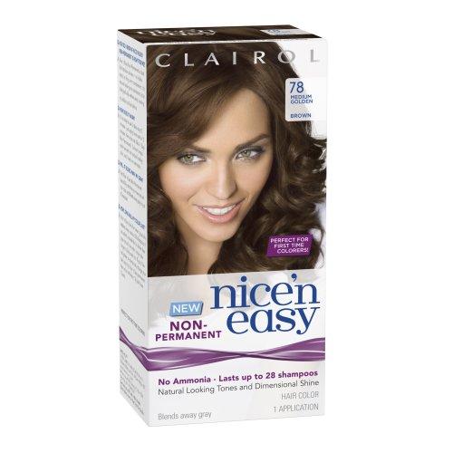 Nice Clairol Nice 'N Easy Non-Permanent Hair Color 78 Medium Golden Brown 1 Kit supplier
