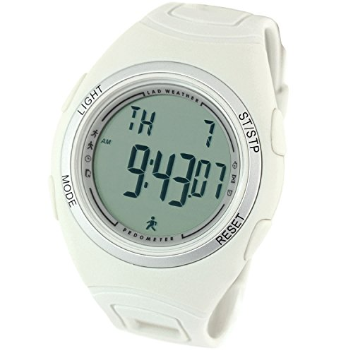 LAD WEATHER 3D Pedometer Watch Activitiy Tracker Calories Counter Running Fitness Sports (Grey)