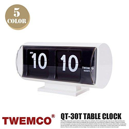 QT-30T CLOCK(クロック) パタパタクロック TWEMCO(トゥエンコ) ブラックブラック B00Q9QYESI ブラックブラック ブラックブラック