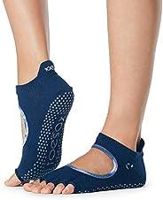 Toesox Women's Bellarina Half Toe Grip Non-Slip for Ballet, Yoga, Pilates, Barre Toe S