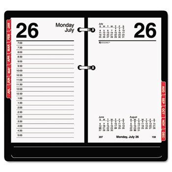 AT-A-GLANCE Desk Calendar Refill with Tabs, 3 x 6 Inches, 2013 (E717T-50)