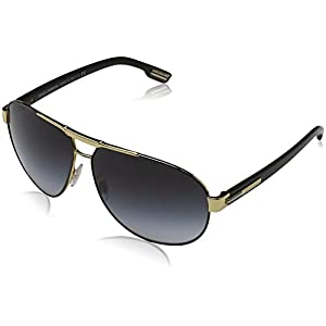 Dolce & Gabbana Men's DG2099 Sunglasses Gold/Black / Gray Gradient 61mm