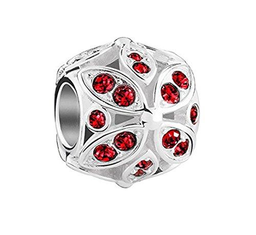 (Chamilia Floral Color Accents Light Siam Swarovski Crystal 2025-1673 )