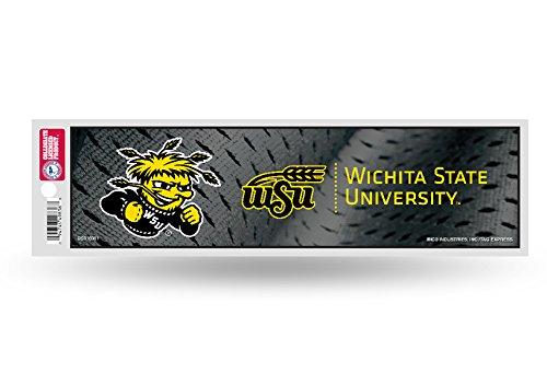 Rico NCAA Wichita State Bumper Sticker, 9 x 4, Logo Color