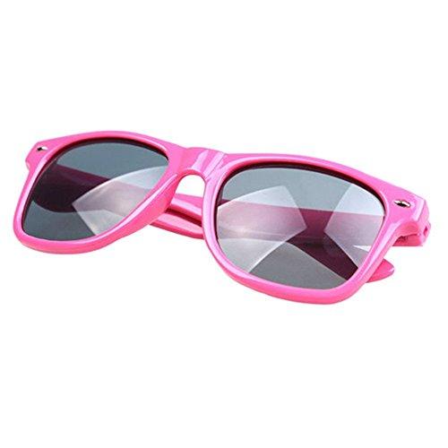 FancyG Classic Retro Fashion Style UV 400 Protection Lens Sunglasses Frame Eyewear - Hot Pink
