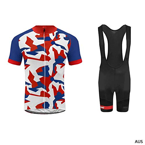 - Uglyfrog Men's Racing Comfortale Short Sleeve Cycling Jersey Set Bicycle Shirt Cycling Suit with 3D Cushion Padded Shorts Quick Dry USH19DT03
