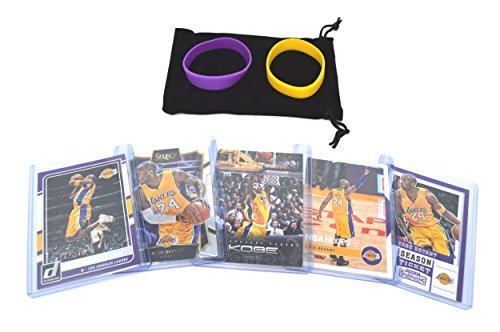 Kobe Bryant Basketball - Kobe Bryant (5) Assorted Basketball Cards Bundle - Los Angeles Lakers Trading Cards - MVP # 24