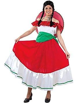 DISBACANAL Disfraz mejicana Mujer - Único, M: Amazon.es ...