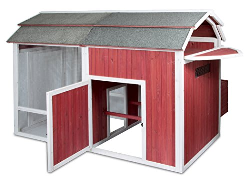 Precision-Pet-Old-Red-Barn-Chicken-Coop-5267-by-7795-by-5157-Inch