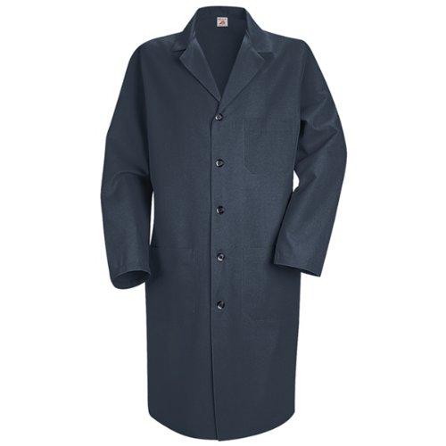Red Kap Men's Lab Coat, Navy, Long (Mens Smock)