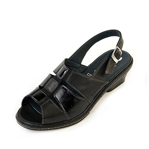 Suave - Sandalias de vestir para mujer, color negro, talla 40 EU