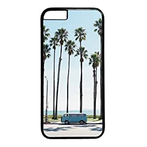 """Beach Palm Tree And Vintage Bus Theme Case for iPhone 6(4.7"""") PC Material Black by mcsharks"""