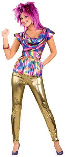 80's Music Costumes (Forum Novelties 80's Video Star Costume, Multi, One Size)