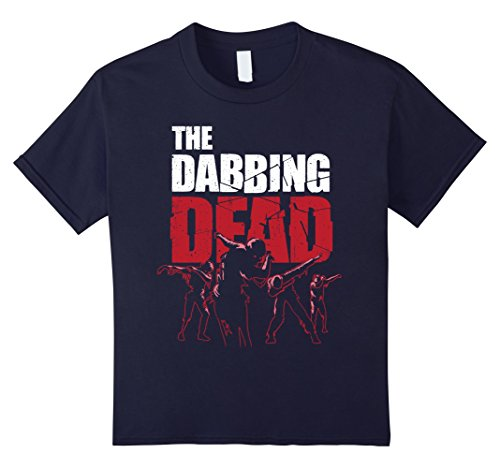 Kids The Dabbing Dead Zombie T-shirt Walking Dab Halloween Gift 12 Navy