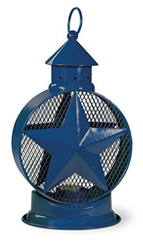 Celebrate the Home Americana Star Tealight Lantern, 12.5-Inches Tall, Blue ()
