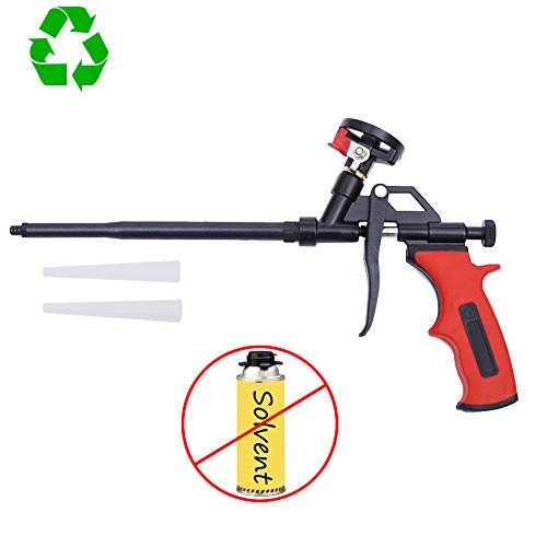 DAFEIKE Foam Insulation Gun Neednt Cleaner, Updated Teflon Pro Foam Dispensing Gun, Expandable Pu Foaming Applicator, Spray Tool for Caulking, Sealing and Filling