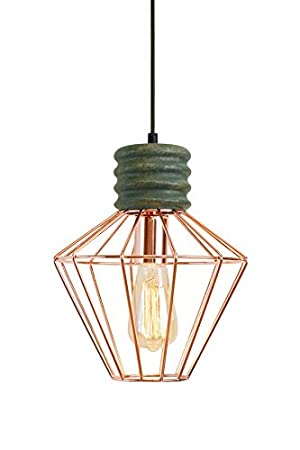 My furniture hugo copper vintage industrial pendant light amazon co uk kitchen home