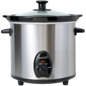 Brentwood SC-130S Slow Cooker Stainless Steel Body, 3-Qua...