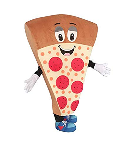 Krister Cute Pizza Mascot Costume Adult Halloween Costume Brown