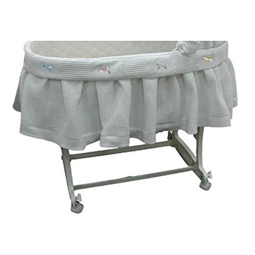 aBaby Short Pique Fleece Bassinet Skirt, Small by Ababy