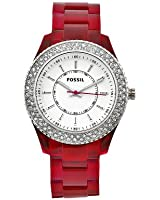 Fossil Women's ES2451 Stella Purple Resin Crystal Bezel Watch