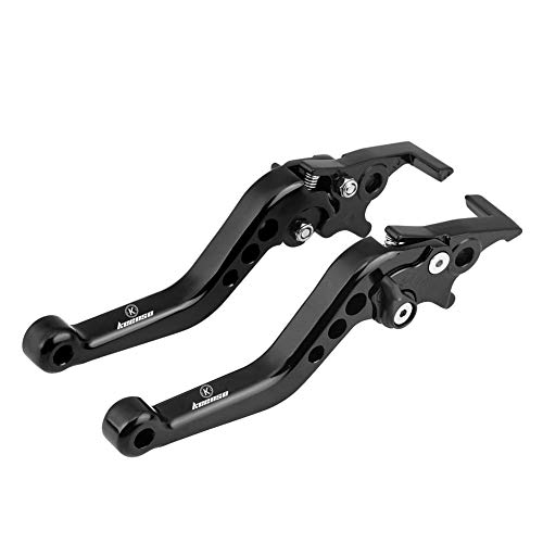 1 Pair Motorcycle Clutch Lever Brake Handle Levers Universal Brake Lever Handle Double Disc (Black):