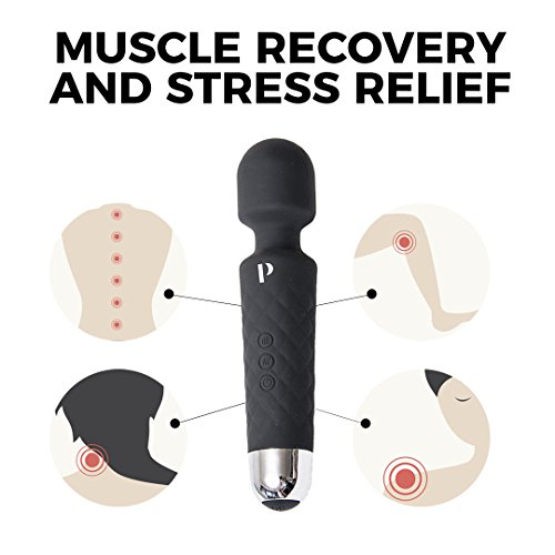 Travel Massager w/USB Charging - Handheld Silicone Massager to Help Relieve Pain in Sore Muscles - Helps to Release Tension and Alleviate Stress - Color: Black by Professionale (Image #1)