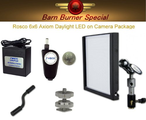 Rosco LitePad Axiom Daylight 6'' On Camera Light Kit by Rosco
