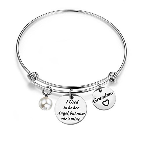 WUSUANED Memorial Jewelry I Used To Be His/Her Angel Bracelet In Memory Of Loved One Grandpa Grandma Sympathy Gift (in memory of grandma bracelet) (Gifts In Remembrance Of A Loved One)