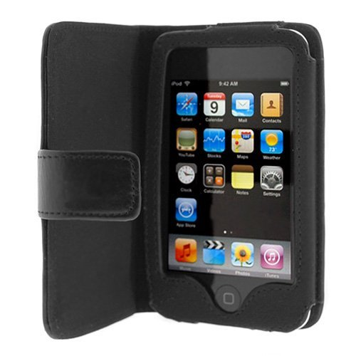 Importer520 Folio Wallet Leather Case for Apple iPod Touch 3rd Generation - 1st Ipod Touch Button Generation