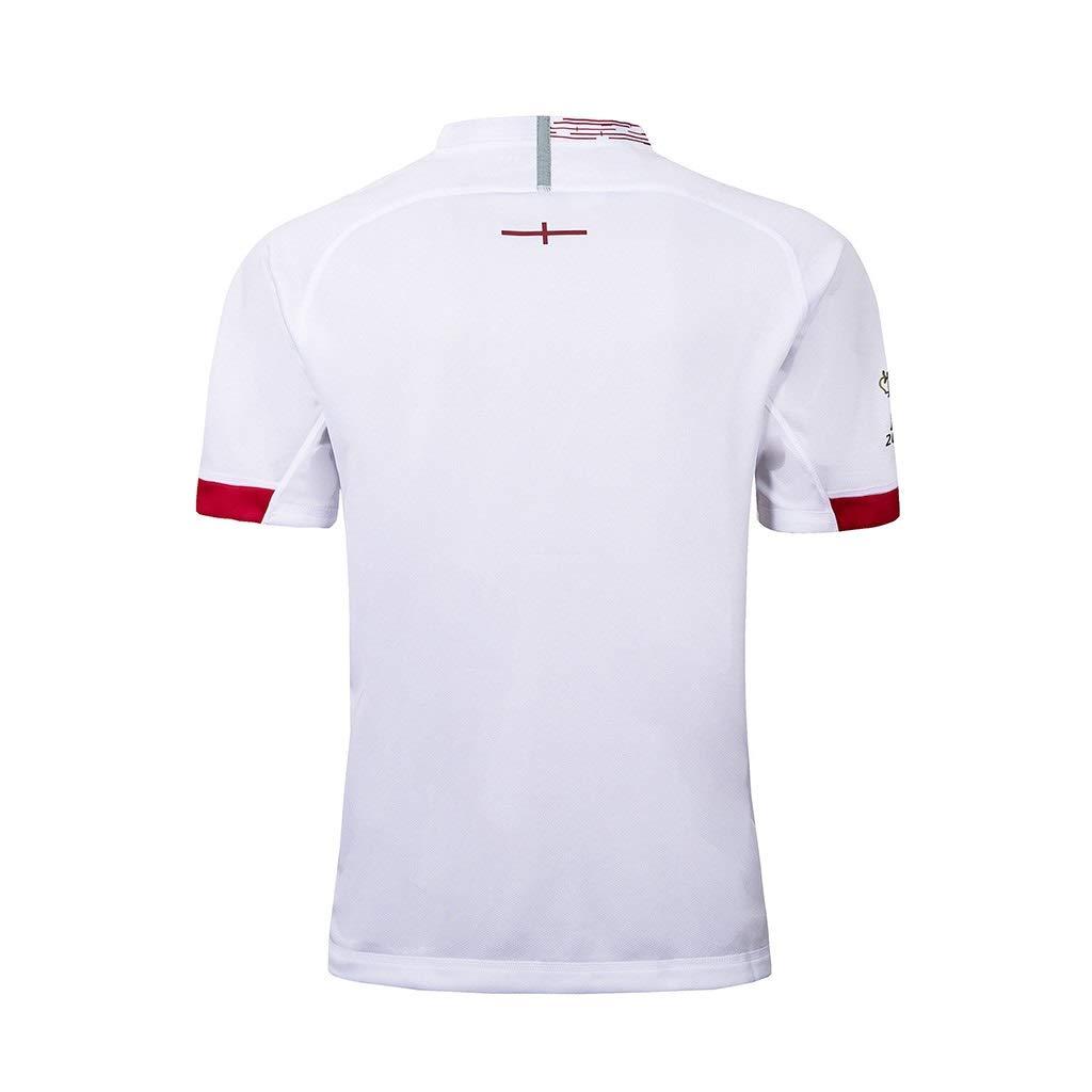 Pavilion Japan World Cup 2019 England Casa F/útbol Americano Camisa Jersey RWC Rugby Jersey RFU Hombres Camiseta Blanco Size : S