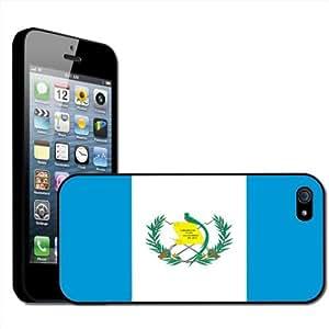 Fancy A Snuggle - Carcasa rígida para iPhone 5 de Apple, diseño bandera de Guatemala