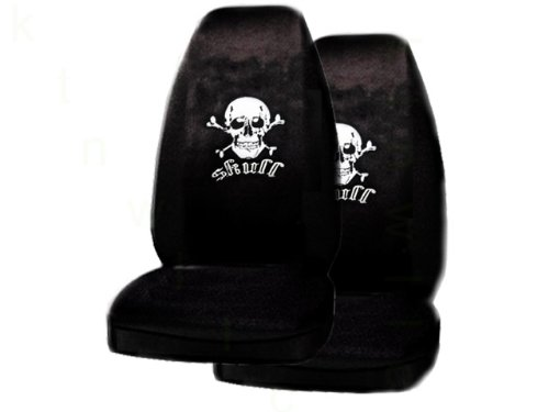 Universal Skull White Seat Covers product image