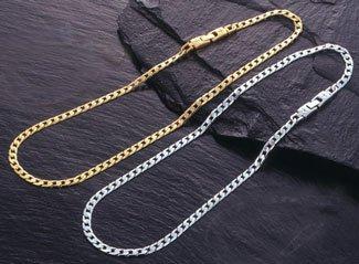 クリスチャンミッシェル 極薄8面カット喜平 ゲルマ磁気ネックレス (L, ゴールド) B00M8Y2EH8 ゴールド L