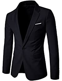 Men's Slim Fit Suit One Button Suit Coat Casual Business Lapel Blazers Jacket