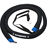 Hyperwear 10-Foot Neoprene SandRope Weighted Battle Rope with Anchor Kit