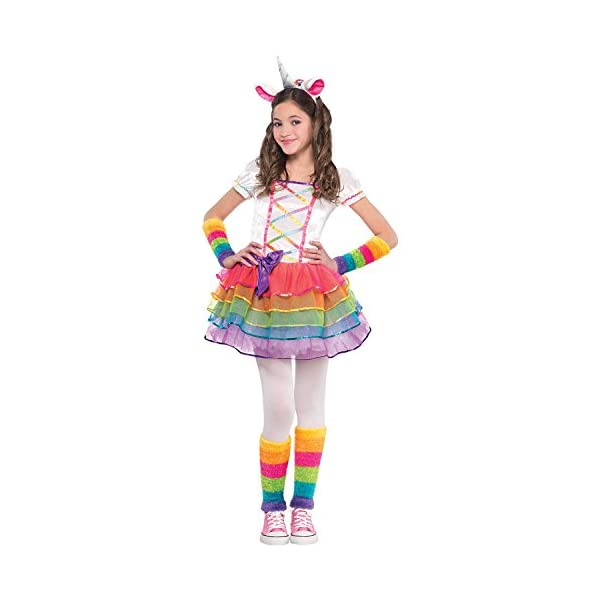AMSCAN Rainbow Unicorn Halloween Costume for Girls, Small, with Included Accessories 3