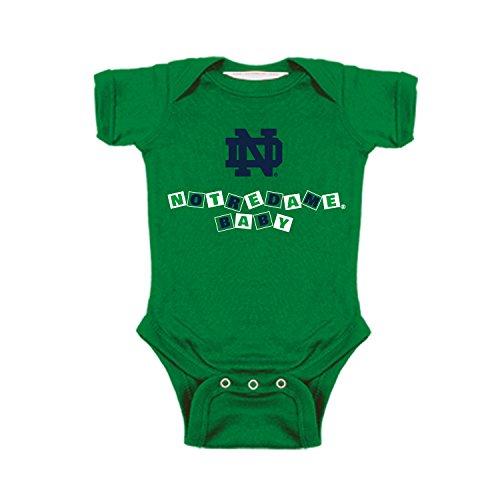 - Two Feet Ahead Notre Dame Fighting Irish Blocks NCAA College Newborn Infant Baby Creeper (6 Months)