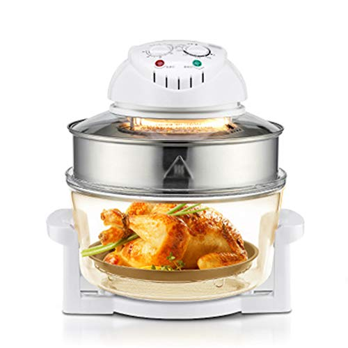 Yxian 1300W Air Fryer Multi-Function Mechanical Control Fryer Electric Heat Pipe Hot Air Circulation System Silent Design Oil-Free Smokeless