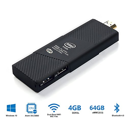 [Upgraded] Mini PC Windows 10 Home - Enegitech Intel Compute Stick 4GB / 64GB Intel Atom X5 Z8350 Quad Core Built-in WiFi Bluetooth - Includes Genuine Activation Key by Enegitech