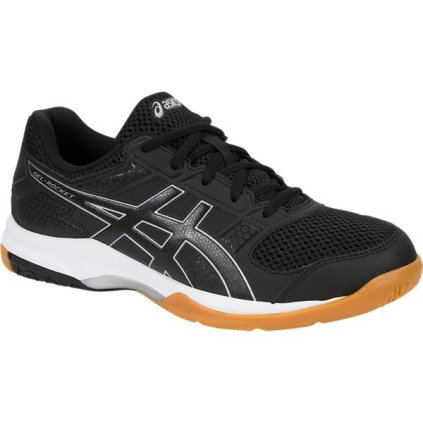 ASICS Womens Gel-Rocket 8 Volleyball Shoe, Black/White, 9