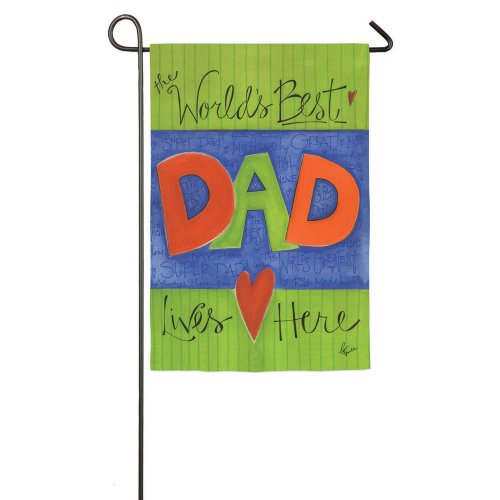Evergreen Flag & Garden World's Best Dad Garden Flag
