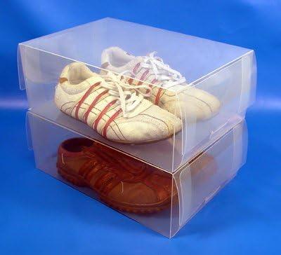 TallerHeels 30 Cajas de Almacenamiento para Zapatos Transparentes para Hombre, Ahorro de Espacio: Amazon.es: Hogar