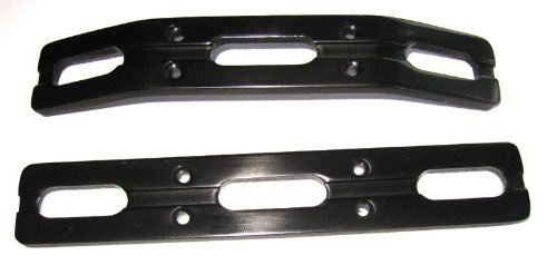 RC Raven T-Maxx and E-Maxx Black Anodized Aluminum Bumper Set ()