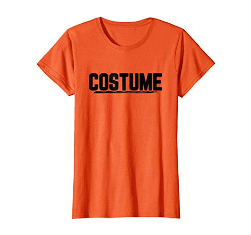 (Womens Halloween T-Shirt That Says Costume Easiest Last Min Tee Large)