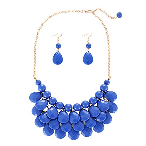 iWenSheng Fashion Statement Necklace Earrings