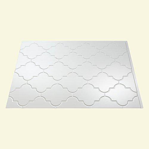 Fasade Easy Installation Monaco Gloss White Backsplash Panel