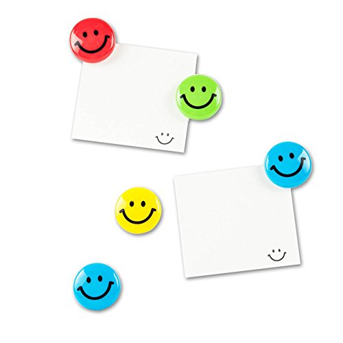 Lucky Cion 30mm Smile Whiteboard/Refrigerator Magnet 30pcs/Tub Display-Assorted Colors Photo #2